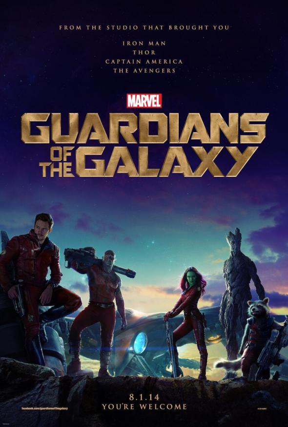 Official poster for Guardians of the Galaxy