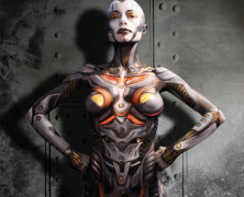New Bodypaint!: Miss Electra Mechanica